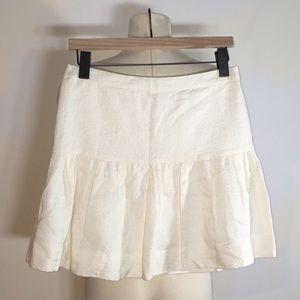 NWT J Crew Ivory Floral Brocade Drop Waist Skirt